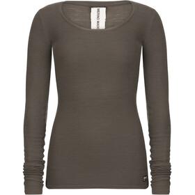 super.natural Rib LS Shirt Women, killer khaki